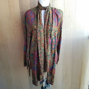 Vintage Bohemian Paisley Psychedelic Blazer Kimono